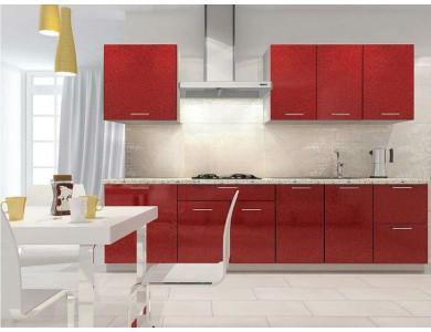 Кухня Базис-52 2.5 метра (красная)