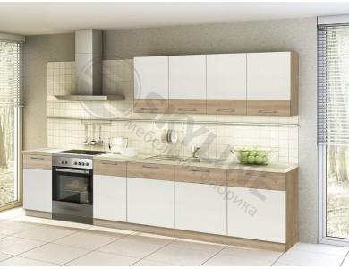 Кухня Базис Linewood-14 3.3 метра (ваниль)
