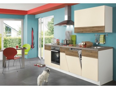 Кухня Базис Linewood-02 2.45 метра (ваниль)