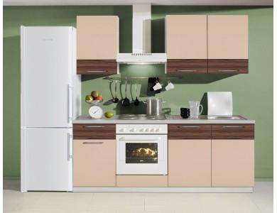Кухня Базис Linewood-04 2.1 метра (мокко)
