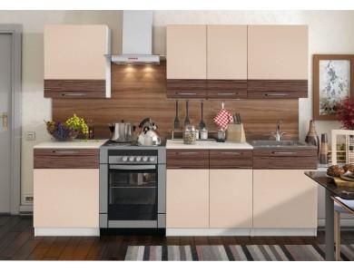 Кухня Базис Linewood-06 2.6 метра (мокко)