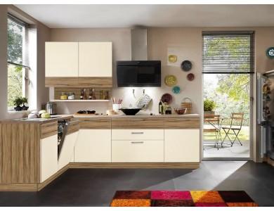 Кухня Базис Linewood-07 2.5 метра (ваниль)