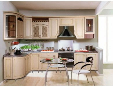Кухня Ника-01 изготовление на заказ, угловая, МДФ шпон
