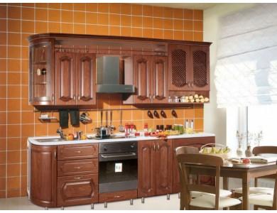 Кухня Ника-03 изготовление на заказ, прямая, МДФ шпон
