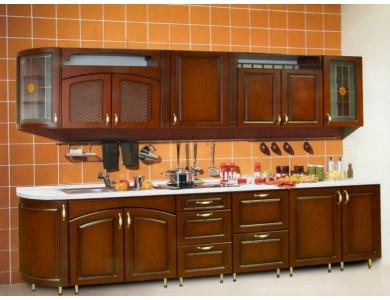 Кухня Ника-06 изготовление на заказ, прямая, МДФ шпон