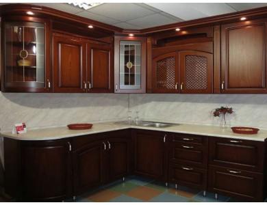 Кухня Ника-07 изготовление на заказ, прямая, МДФ шпон