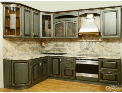 Кухня Ника-08 изготовление на заказ, угловая, МДФ шпон