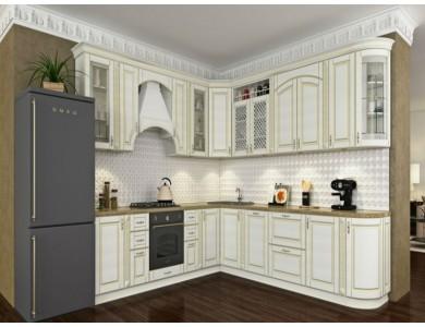Кухня Ника-09 изготовление на заказ, угловая, МДФ шпон