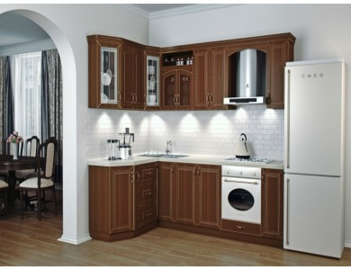 Кухня Ника-10 изготовление на заказ, угловая, МДФ шпон