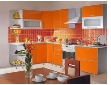 Кухня Торино-03 2.9 метра (оранжевая)