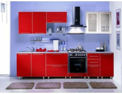 Кухня Торино-04 2.9 метра (красная)