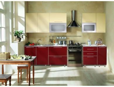 Кухня Торино-05 3 метра (красная)