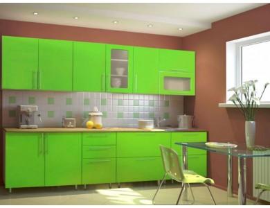 Кухня Торино-08 2.5 метра (зеленая)