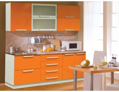 Кухня Торино-10 2.1 метра (оранжевая)