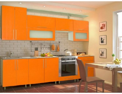 Кухня Торино-11 2.7 метра (оранжевая)
