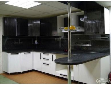 Кухня Торино-13 2.5 метра (черно-белая)