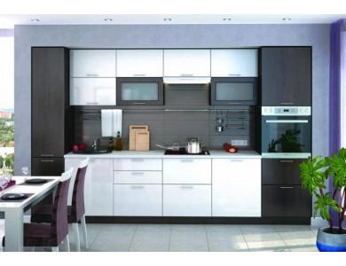 Кухня Валерия-М 02 2.7 метра (белый глянец)