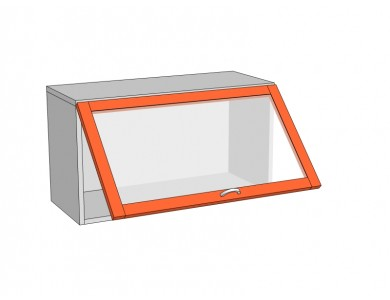 Шкаф горизонтальный 800 стекло