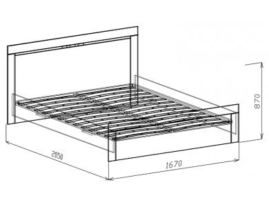 Кровать 1,6 с ортопедическим основанием